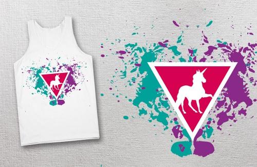 Motiv für Ladyshirt im Hipster-Style