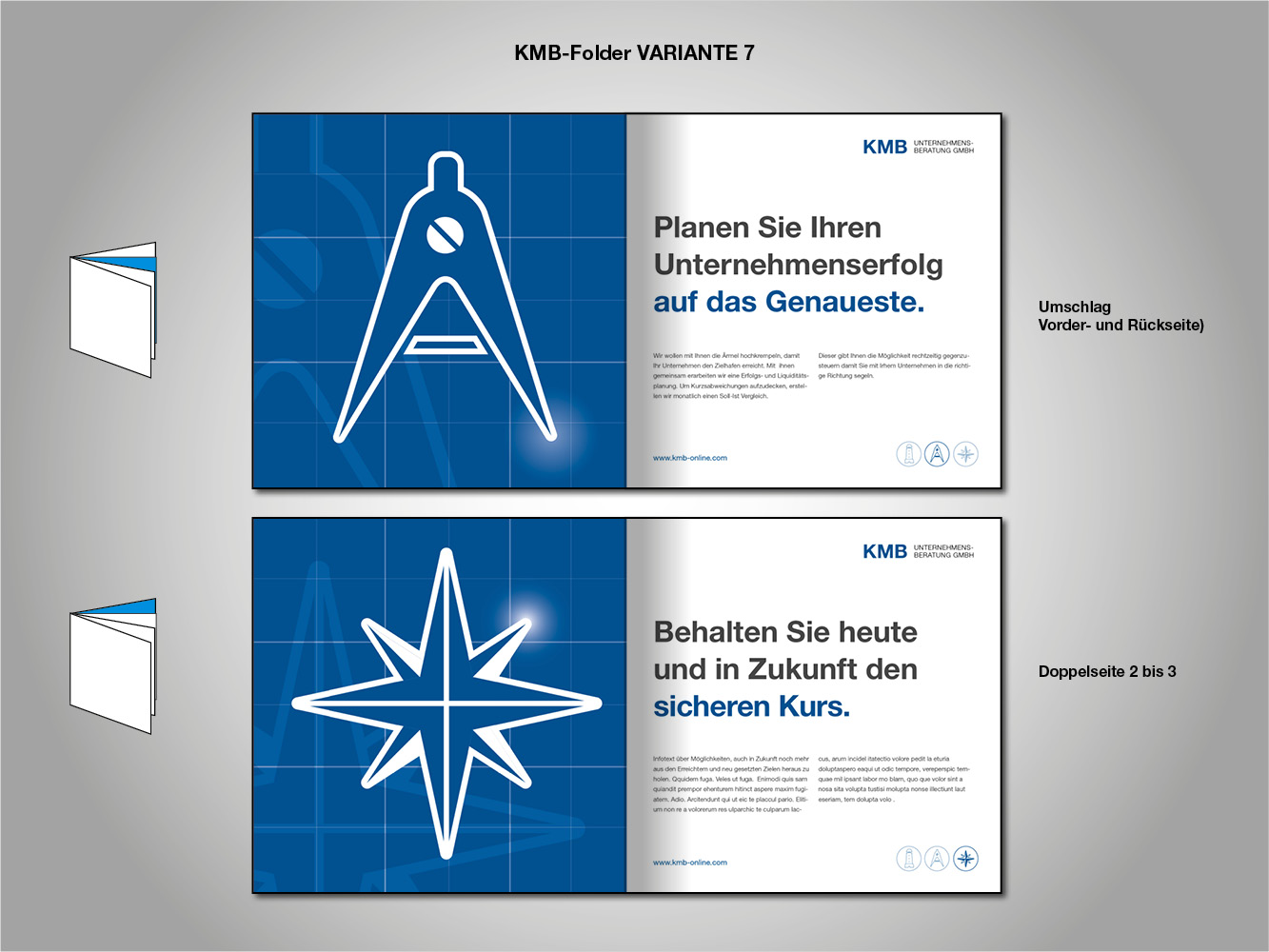 KMB flyer für unternehmensberatung