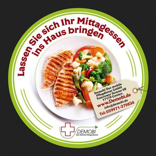 Flyer-Design für ambulanten Pflegedienst (Essen auf Rädern)