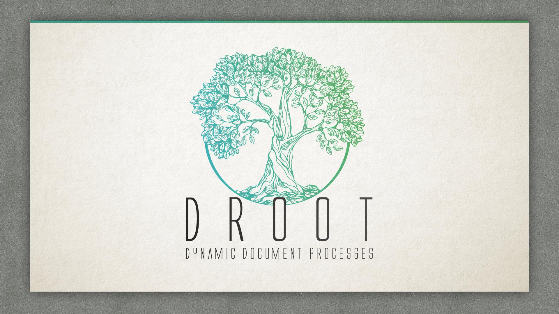 logo wort bild marke f r software droot gesucht logo design designen. Black Bedroom Furniture Sets. Home Design Ideas