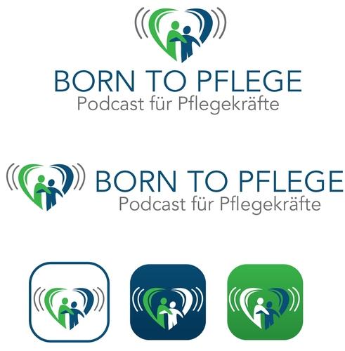Logo & Social Media Design für den Podcast Born to Pflege