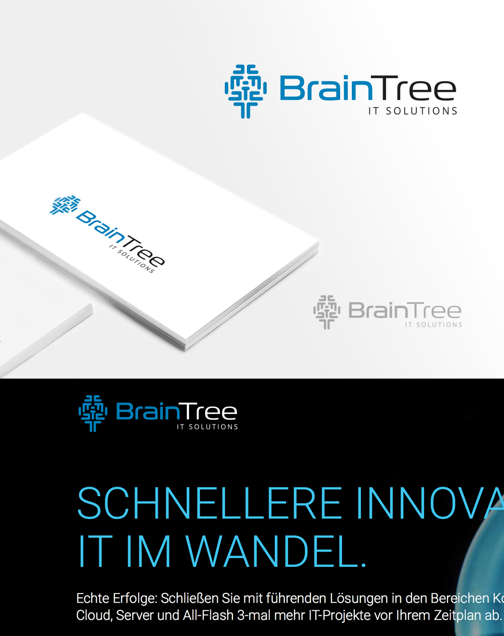Corporate Design für BrainTree IT Solutions