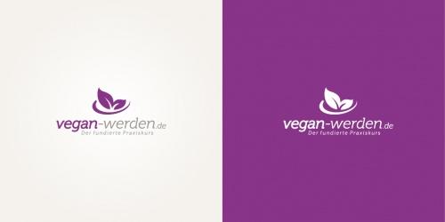 Sympathisches Logo für veganen Online-Kurs