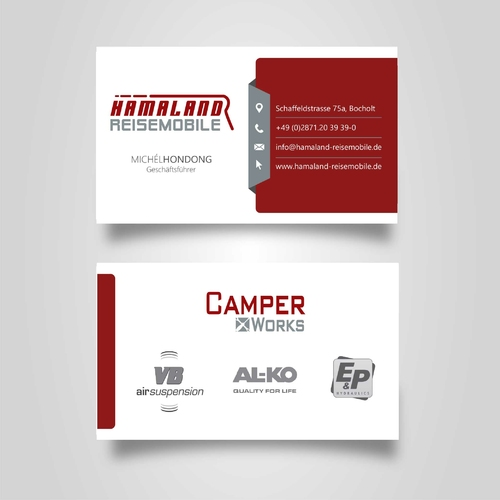 Visitenkarten Design Für Reisemobil Firma Business Card