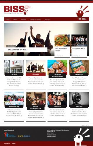 Wordpress-Design für das neue Kinder- und Jugendforum der Stadt Husum
