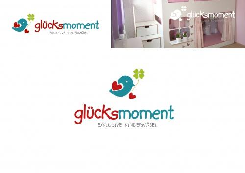 Kindermöbelserie glücksmoment sucht passendes Logo