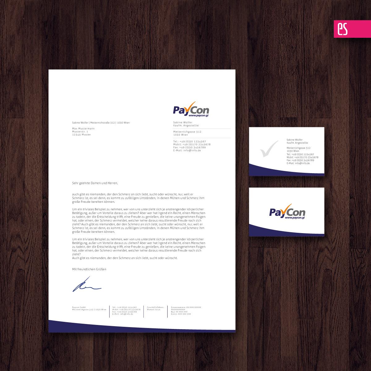Paycon Visitenkarte Und Geschäfspapier Business Card