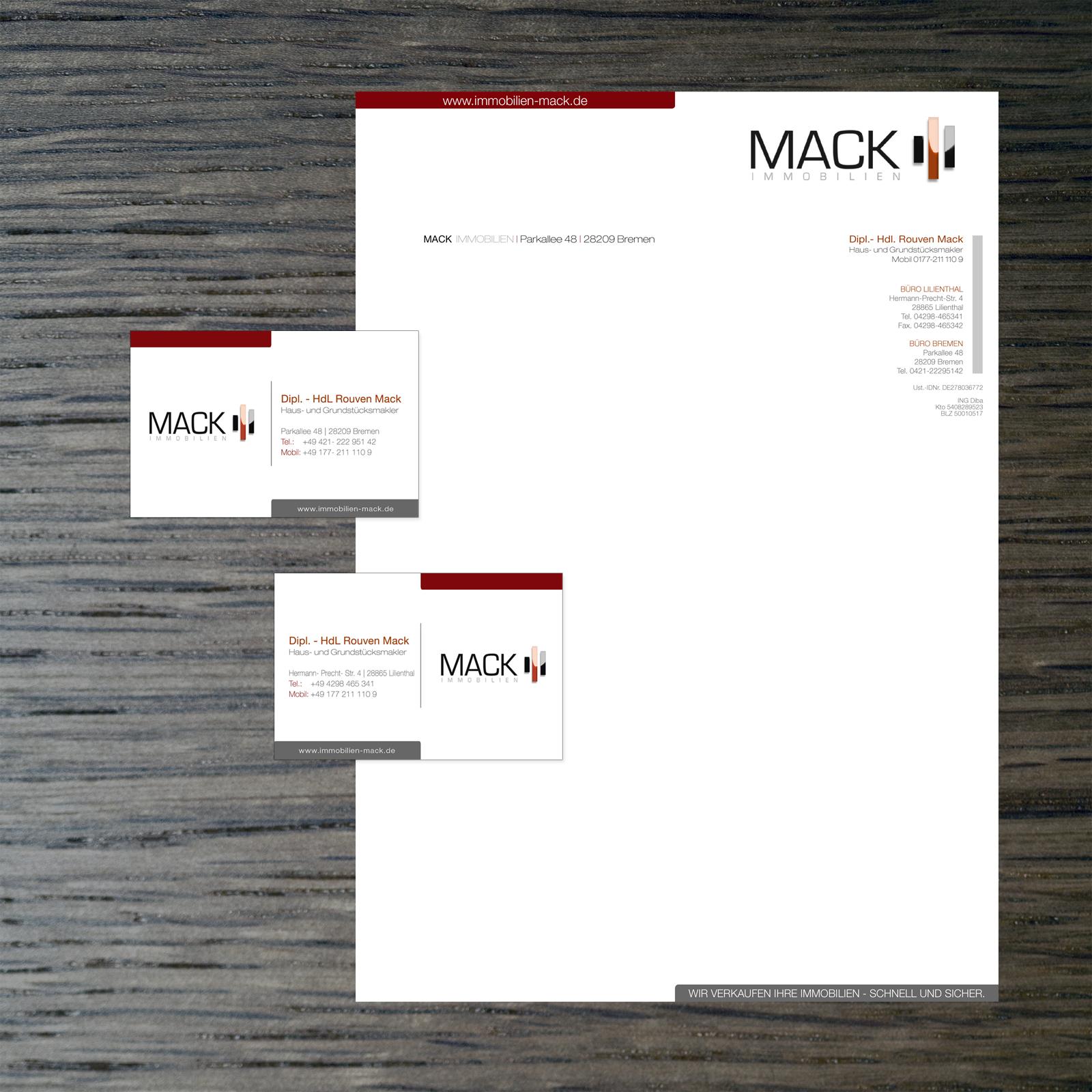 Visitenkarte Und Briefpapier Für Immobilienmakler
