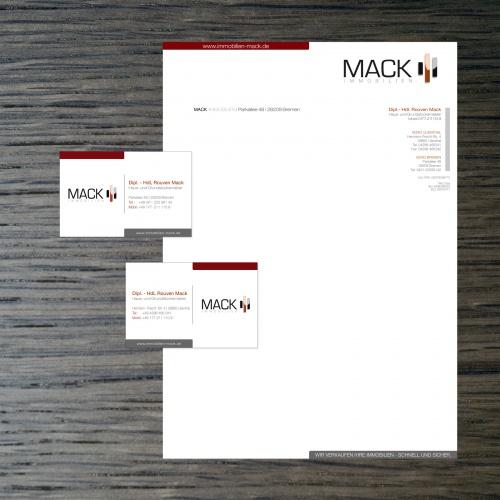 Visitenkarte Und Briefpapier Für Immobilienmakler Business
