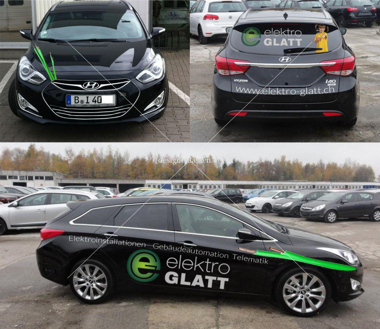 Design für Fahrzeug-Beschriftung