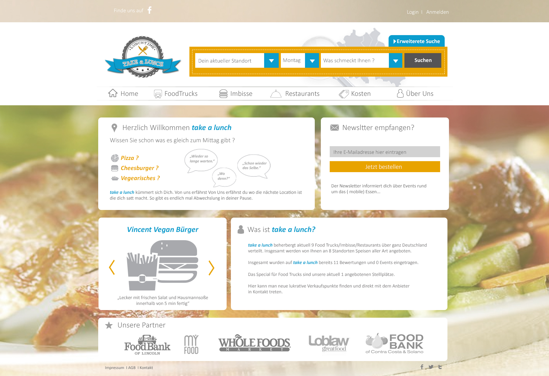 Webdesign fürs Mittagessen