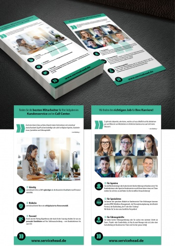 Flyer-Design für Personalvermittlung