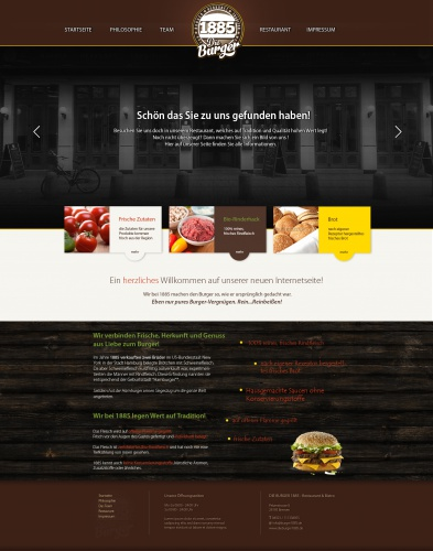 1885 Burger website