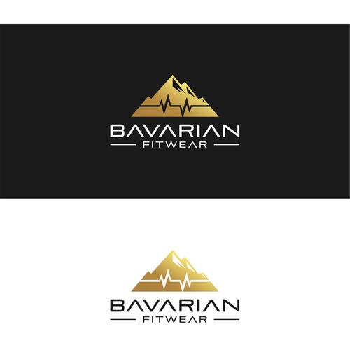 Logo-Design mit Herzfrequenz für umweltbewusste Sportbekleidung