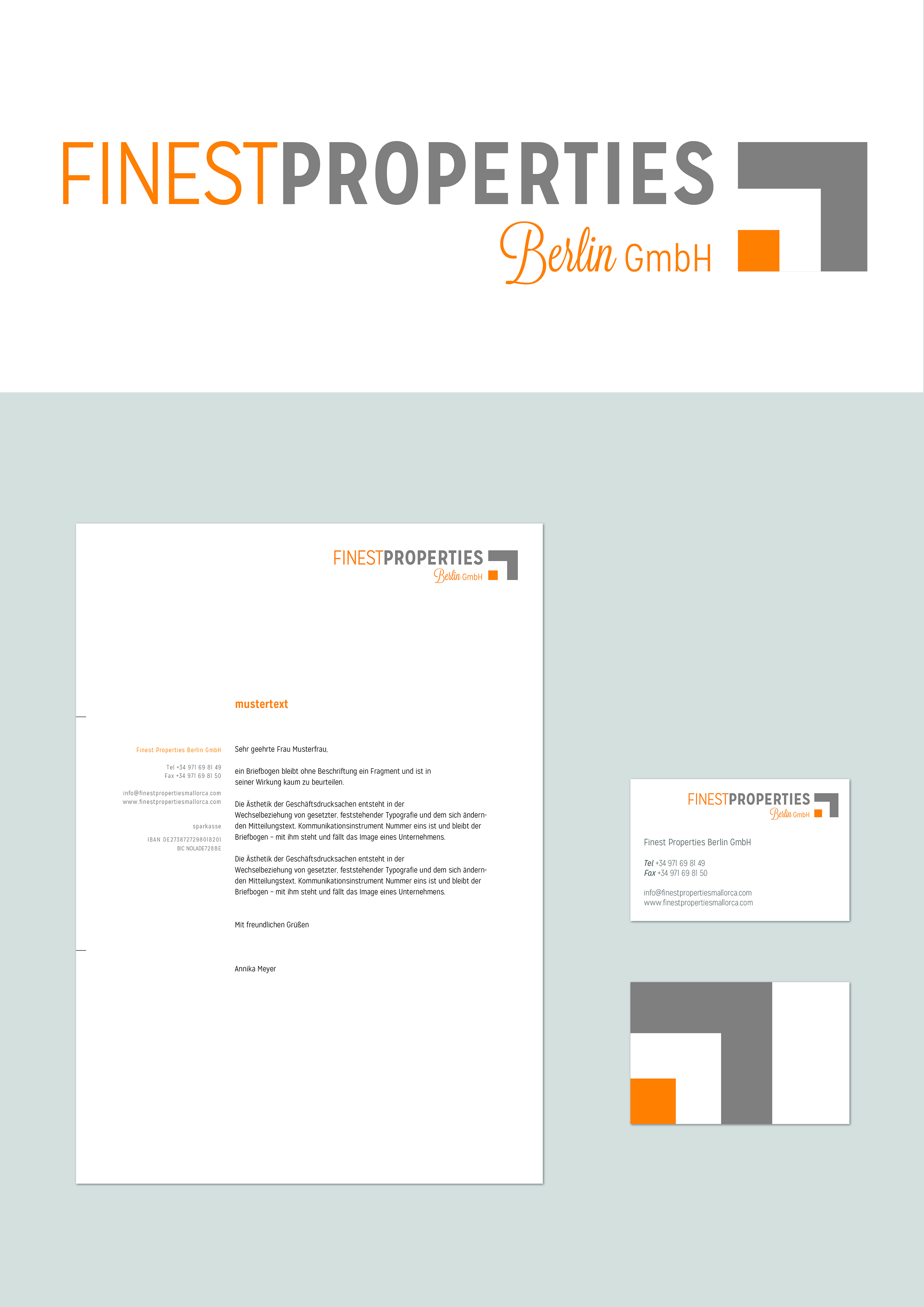 Finest Properties Berlin Gmbh Corporate Design Package