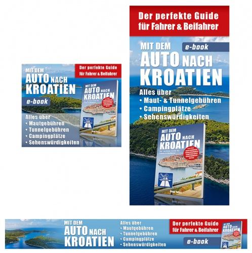 Webbanner-Design für Ebook - Mit dem Auto nach Kroatien ( Affiliate und Adsense)