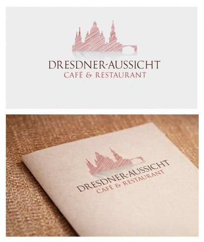 Logo für Café und Restaurant