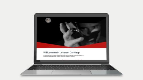 Webdesign für lokalen Dart-Shop