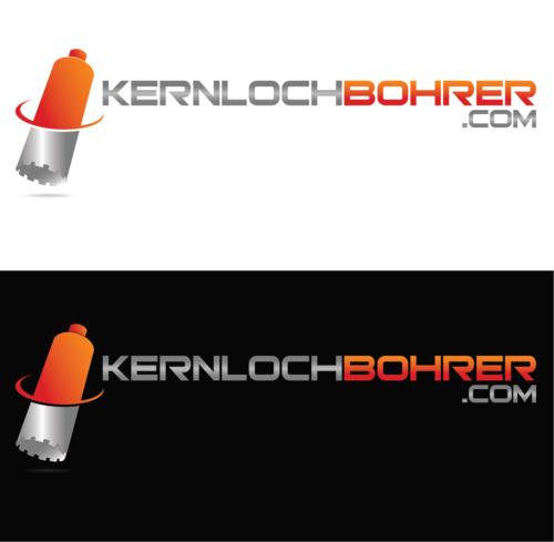 Logo-Design für Internethandel mit Kernlochbohrerern