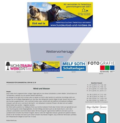 Webbanner-Design für Vermietung von hundefreundlichen Ferienhäusern