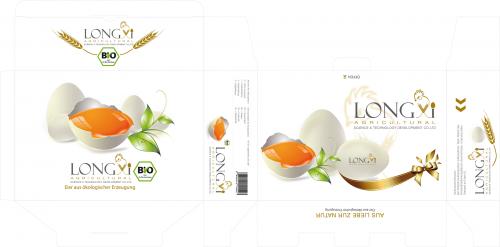 Logo en biologische eieren Verpakking