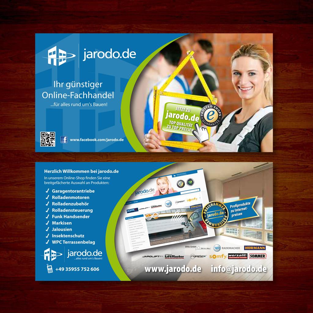 Werbeflyer Für Online Shop Visitenkarte Flyer Design