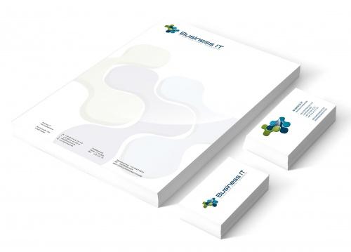 Briefpapier und Visitenkarten erstellen Logo vorhanden