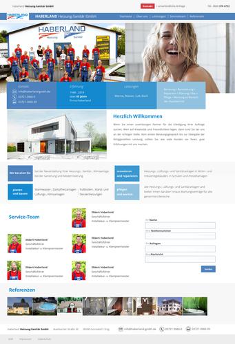 Webdesign für die Haberland GmbH