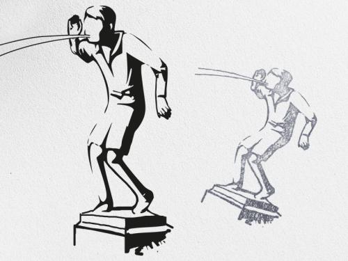 abstract figuur als Logo