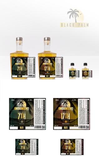 Etiketten-Design für fassgelagerten Rum