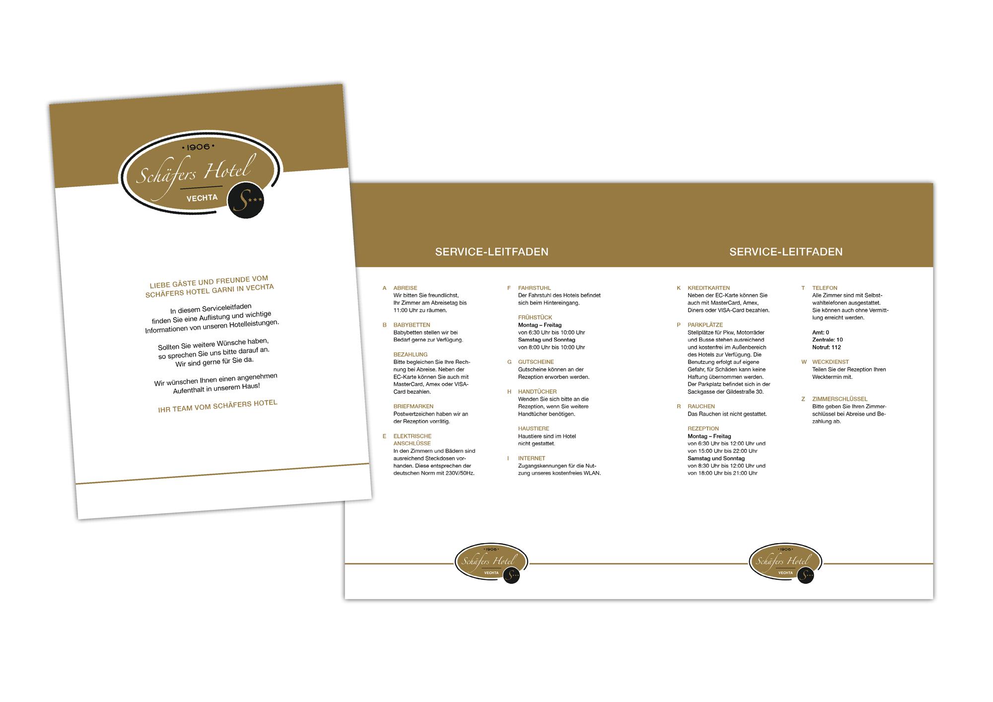 Serviceleitfaden für das Hotel » Flyer-Design » Briefing ...