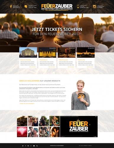 Webdesign für die Veranstaltungsreihe Feuerzauber
