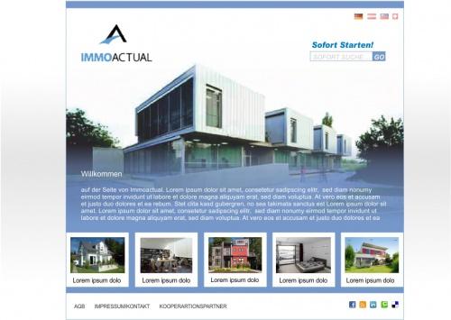Eine Willkommenseite (Startseite) für ImmoActual
