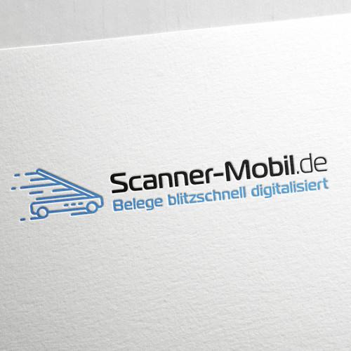 Logo-Design für mobilen Highspeed-Scan-Service