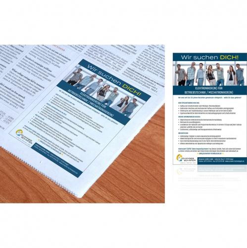 Anzeigengestaltung für Spezialist auf den drei Technologiefeldern Hydraulik, Prüfstandsbau und Laserschneiden
