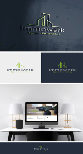 Logo-Design für moderne Agentur rund um die Immobilie.