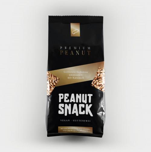 Neuartiges Verpackungsdesign für Erdnüsse mit Karamell in Puzzleform
