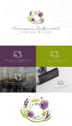 Logo-Design für die Aromapraxis Duftwirbel, naturheilkundliche Gesundheitspflege