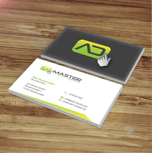 Logo Visitenkarten Für Eine Onlinemarketing Ag Logo