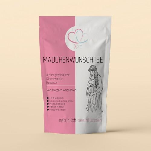 Etiketten-Design für Mädchenwunsch-Tee