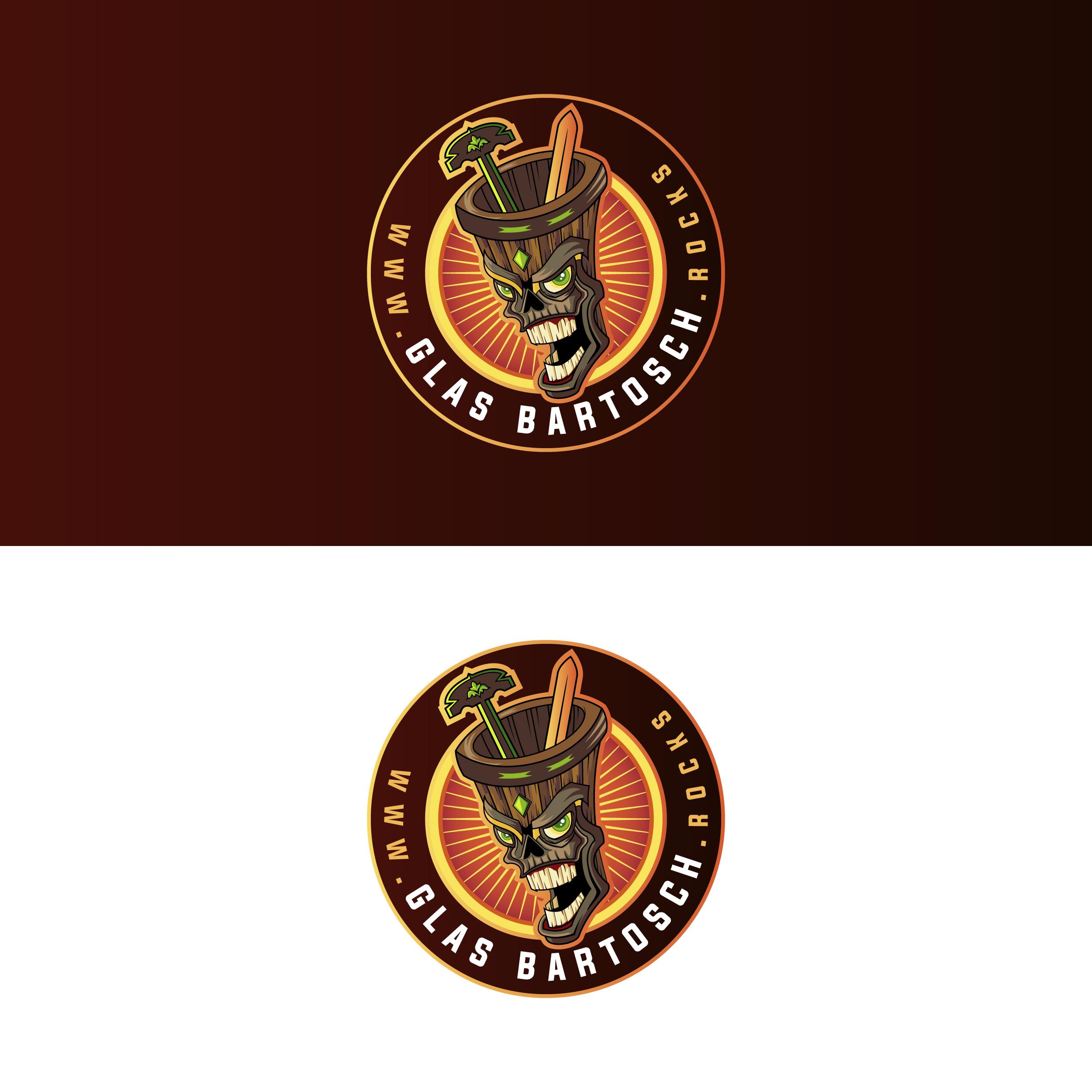 Logo-Design für flippige Glaserei