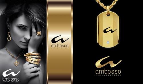 Logo für exklusiven Schmuckshop Ambosso