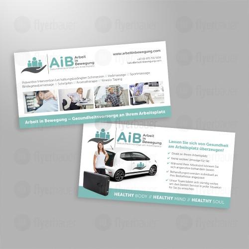 Flyer-Design für betriebliche Gesundheitsvorsorge