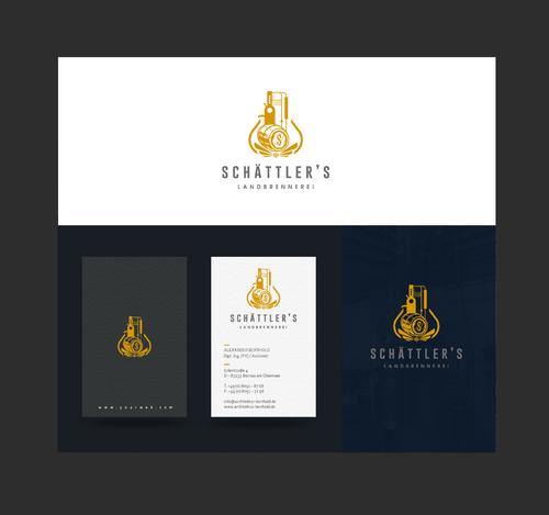 Logo und Visitenkarten für Schättler's Landbrennerei