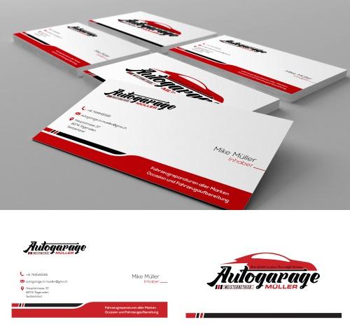 Logo Design Und Visitenkarten Für Autogarage Mit Logo