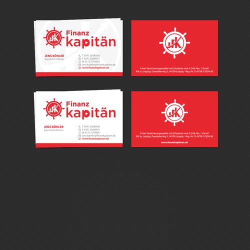 Visitenkarten-Design für Versicherungsmakler-Firma