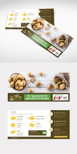 Flyer-Design für landwirtschaftlicher Betrieb