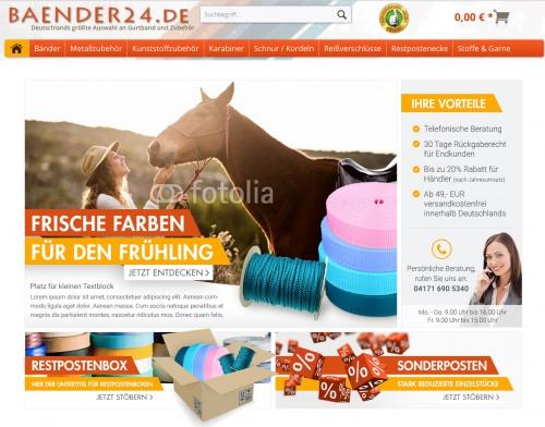 1 großer und 2 kleine Banner für Startseite von Baender24