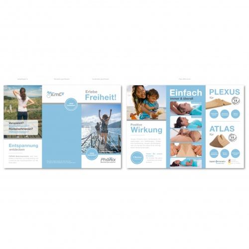 Innovatives Startup-Unternehmen in der Medizinbranche sucht Flyer-Design