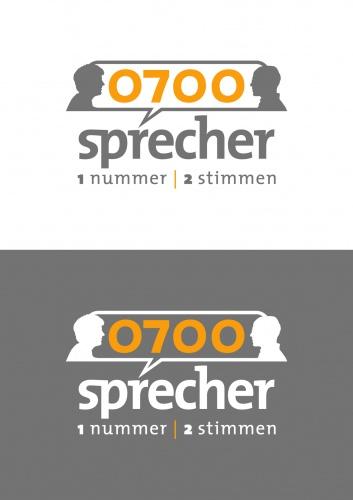 Logo ontwerp voor 0700sprecher.de - reclame woordvoerder